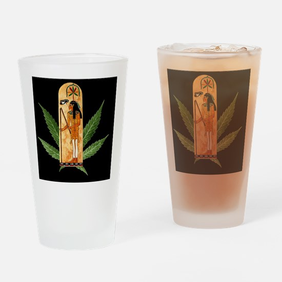 HempLeafSeshatForTiles Drinking Glass