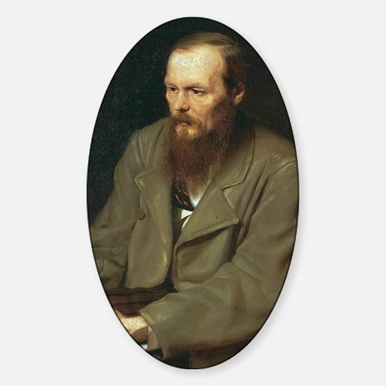 journal-dostoyevsky Sticker (Oval)