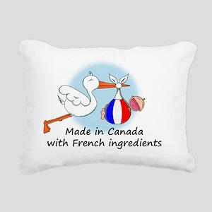 stork baby fr can Rectangular Canvas Pillow