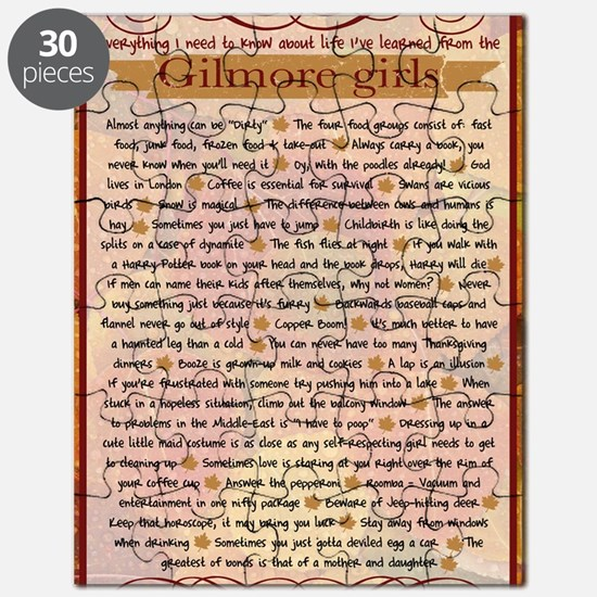 Gilmore Life Lessons journal Puzzle