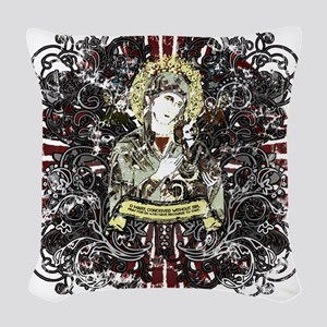 mary_our_lady-02 Woven Throw Pillow