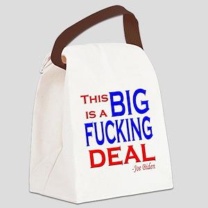 joe big deal fucking Canvas Lunch Bag