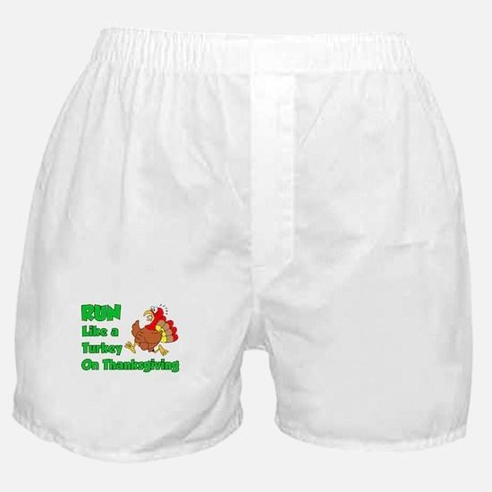 Run Turkey Thanksgiving Boxer Shorts
