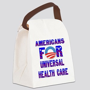 Americans For Universal Health Ca Canvas Lunch Bag