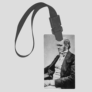 Charles_Darwin_seated_crop Large Luggage Tag