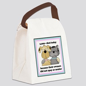 2000diedtoday Canvas Lunch Bag
