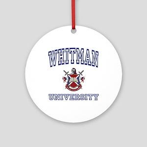 WHITMAN University Ornament (Round)