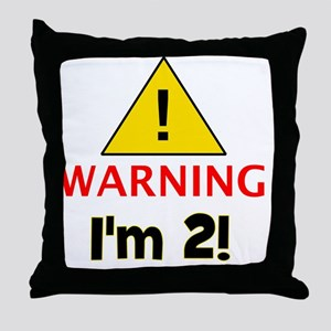 warningim2 Throw Pillow