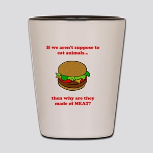 Made Of Meat Red Shot Glass