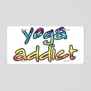 2-yoga-addict Aluminum License Plate