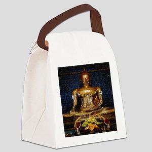golden_buddha_photomosaic1500 Canvas Lunch Bag