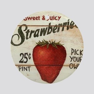 strawberries-posters Round Ornament