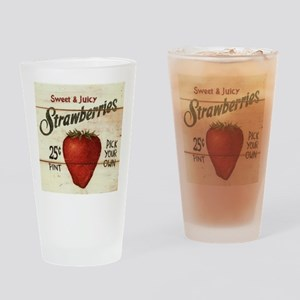 strawberries-posters Drinking Glass
