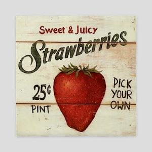 strawberries-posters Queen Duvet