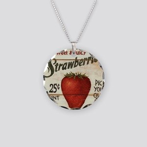 strawberries-posters Necklace Circle Charm