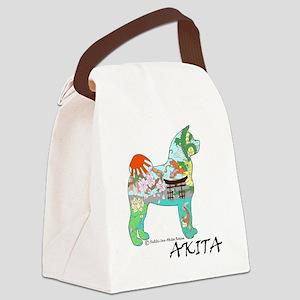 Akita National Treasure (light) Canvas Lunch Bag