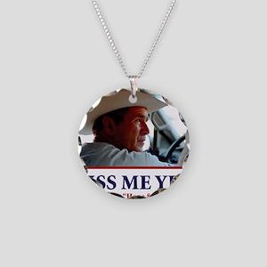 BUSH-HAT Necklace Circle Charm