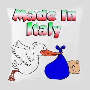 Made In Italy Boy Woven Throw Pillow