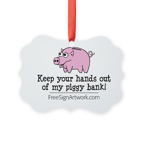 tshirts-freesignart-piggy Picture Ornament