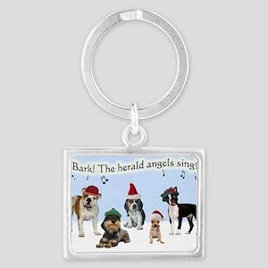 Bark The Herald Angels Sing Landscape Keychain