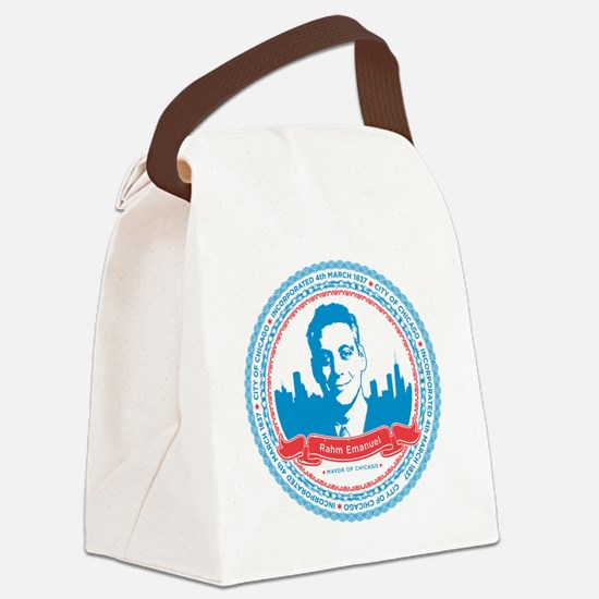 rahm_print_large Canvas Lunch Bag