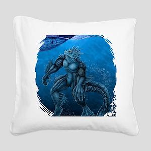 seacreatureBLUEshirt Square Canvas Pillow