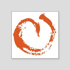 "large aikikai peach Square Sticker 3"" x 3"""