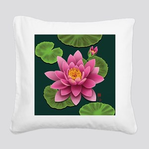waterlily-pillow Square Canvas Pillow