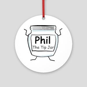 phil_label_zazzle Round Ornament