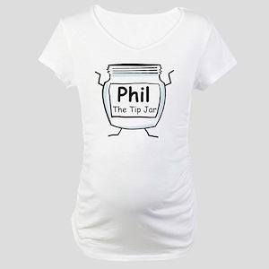 phil_label_zazzle Maternity T-Shirt