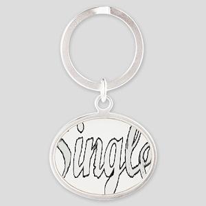 Single10x10 Oval Keychain