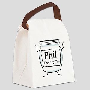 phil_label_zazzle Canvas Lunch Bag