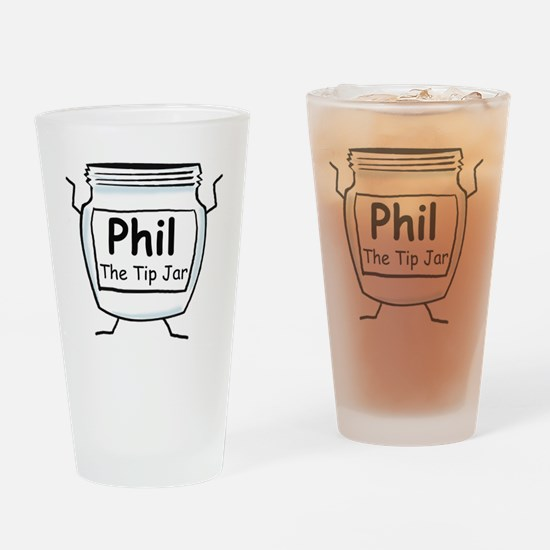phil_label_zazzle Drinking Glass