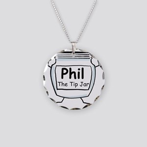 phil_label_zazzle Necklace Circle Charm
