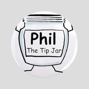 """phil_label_zazzle 3.5"""" Button"""