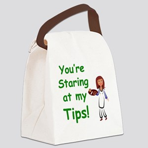 staring_label_zazzle Canvas Lunch Bag