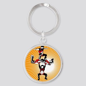 logo_(noText) Round Keychain