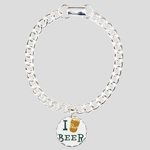 I Beer Charm Bracelet, One Charm