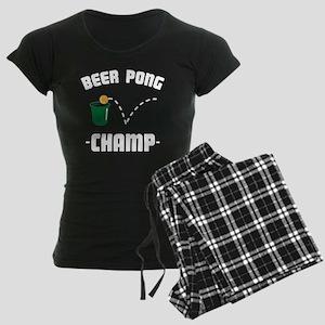 Beer Pong Champ White Women's Dark Pajamas