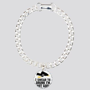 I Swear To Drunk Im Not  Charm Bracelet, One Charm