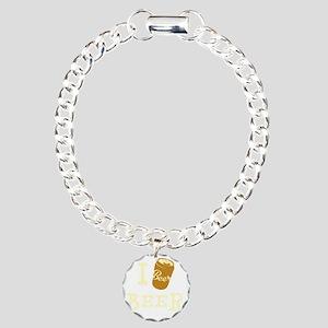 I Beer White Charm Bracelet, One Charm