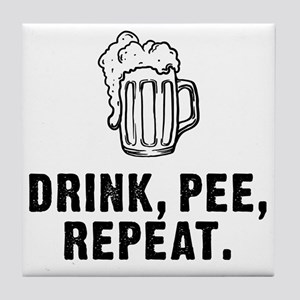 Drink Pee Repeat Tile Coaster