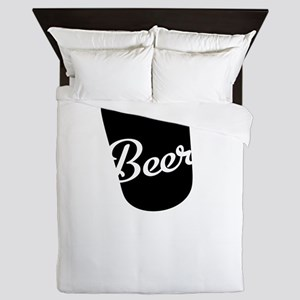 2-Beer So Much More Than Just A Breakf Queen Duvet