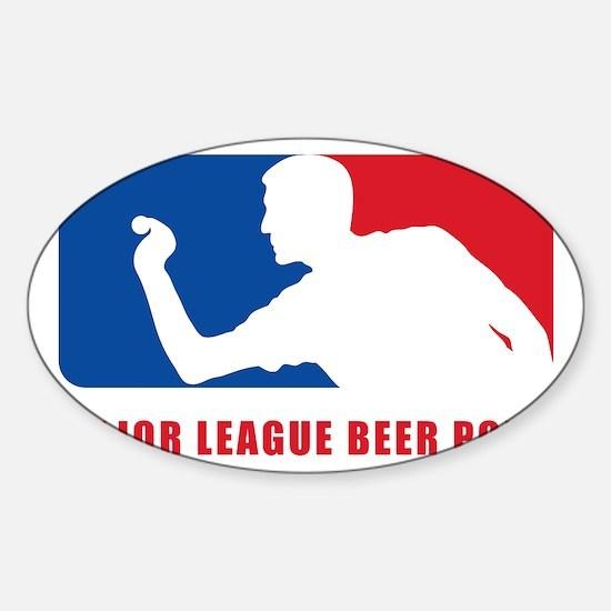 Major League Beer Pong Sticker (Oval)