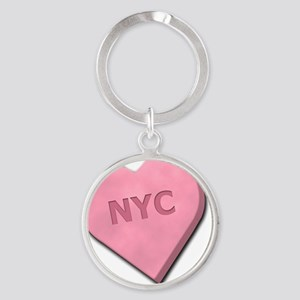 SWEETHEARTNYCPINK Round Keychain