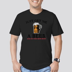 Just Get Me a Beer Men's Fitted T-Shirt (dark)
