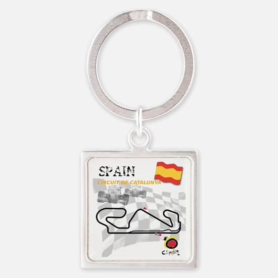 Catalunya Square Keychain