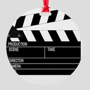 iFilm Black Round Ornament