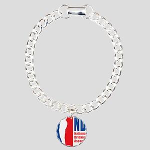 National Drinking Associ Charm Bracelet, One Charm