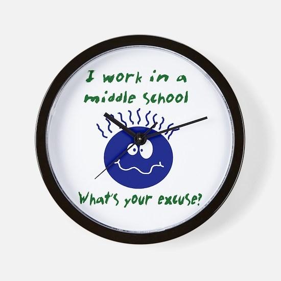 work in middle school Wall Clock